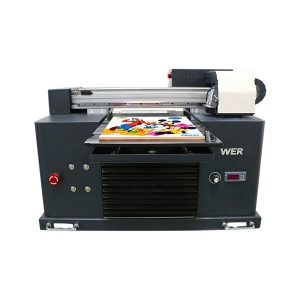 Especificacions Ús: Tipus de placa d'impressora de targetes: impressora plana Condició: nova Dimensions (L * W * H): 65 * 47 * 43 CM Pes: 62 kg Grau automàtic: Volta automàtica: AC220 / 110V Garantia: 1 any Impressió de la mida: 16,5x30 CM Tipus de tinta A4 SIZE: nom de productes LED de tinta UV: impressora petita Màquina d'impressió digital Talla A4 Tinta plana amb impressora UV: tinta UV LED Alçada d'impressió: 0-50 mm Sistema de tinta: sistema CISS Colors de tinta: CMYKWW Nombre de broquets: 90 * 6 = 540 Programari d'impressió: WINDOWS SYSTEM EXCEPTE WIN 8 Voltage :: AC220 / 110V Potència bruta: 30W