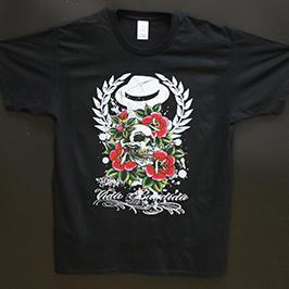 Mostra d'impressió de samarretes negres per una impressora tèxtil digital A1 WER-EP6090T