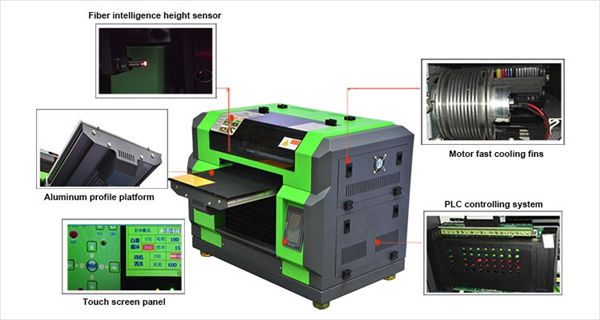 Impressora uv de samarreta dtg a3 d'alta qualitat