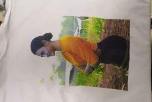 Mostra d'impressions de samarretes per al client de Birmania de la impressora WER-EP6090T